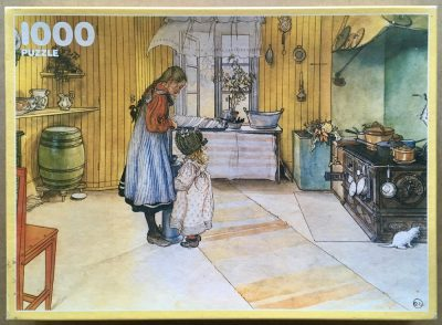 Image of the puzzle 1000, Ravensburger, The Kitchen, by Carl Larsson, Complete, Picture of the box