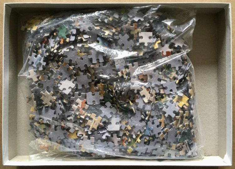 Image of the puzzle 1000, Puzzelman, French Reflection, by Robert Schaar, Complete, Picture of the bag