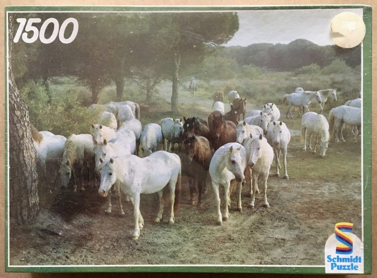 Image of the puzzle 1500, Schmidt, Camargue Horses, by Werner Weigl, Factory Sealed