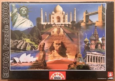 Image of the puzzle 3000, Educa, World Collage, Factory Sealed