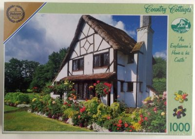 Image of the puzzle 1000, Falcon, 15th Country Cottage, Woking, Surrey, Factory Sealed, Picture of the box