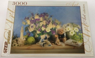 Image of the puzzle 3000, Step, Flowers, Factory Sealed