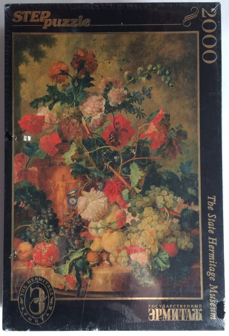 Image of the puzzle 2000, Step, Flowers and Fruit, by Jan van Huysum, Factory Sealed, Picture of the box