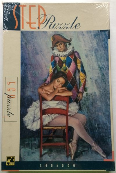 Image of the puzzle 560, Step, Harlequin and Ballerina, Factory Sealed, Picture of the box