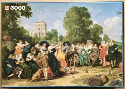 Image of the puzzle 3000, Jumbo, Outdoor Party, Dirck Hals, Complete, Picture of the box