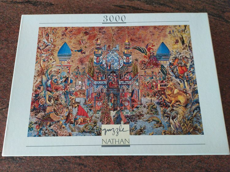 Image of the puzzle 3000, Nathan, The Thousand and One Nights, by Gabor Szittya, Sealed Bag, Picture of the box