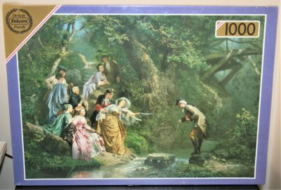 Image of the puzzle 1000, Falcon, A Hazardous Crossing, by Prudent-Louis Leray, Factory Sealed