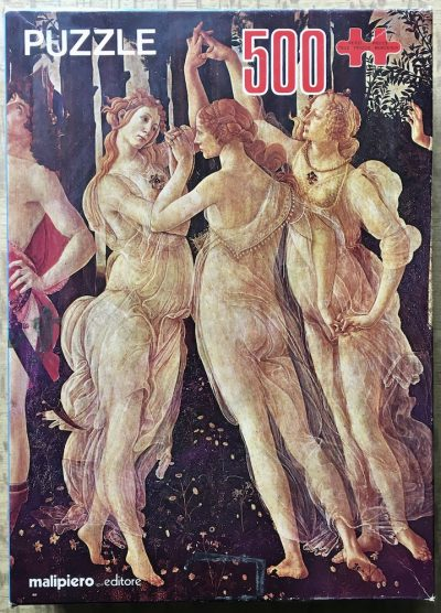 Image of the puzzle 500, Malipiero, Spring, by Sandro Botticelli, Complete, Picture of the box