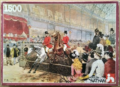Image of the puzzle 1000, Nathan, Horse Racing in 1886, by Adrien Marie, Complete, Picture of the box
