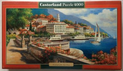 Image of the puzzle 4000, Castorland, Landscape of the Lake Como, Factory Sealed, Picture of the box