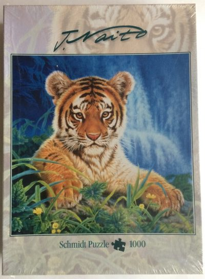 Image of the puzzle 1000, Schmidt, Little Tiger, by Joh Naito, Factory Sealed