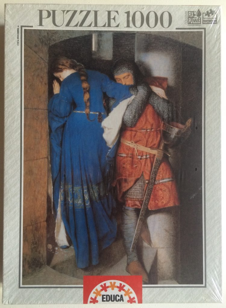 Image of the puzzle 1000, Educa, The Meeting on the Turret Stairs, by Frederick William Burton, Factory Sealed