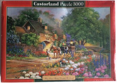 Image of the puzzle 3000, Castorland, Rose Lane House, by Douglas R. Laird, Factory Sealed, Picture of the box