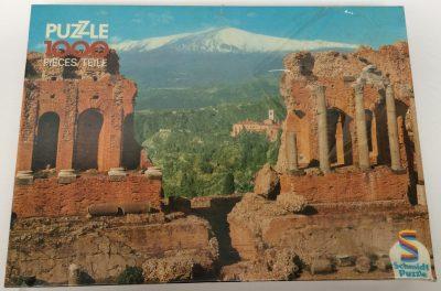 Image of the puzzle 1000, Schmidt, Sicily, Taormina, Picture of the box