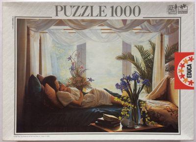 Image of the puzzle 1000, Educa, Tenderness, by Greg Olsen, Sealed Bag, Picture of the box
