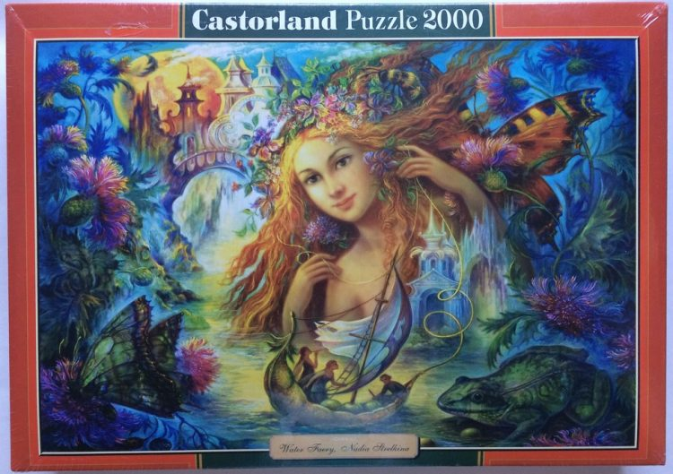 Image of the puzzle 2000, Castorland, Water Faery, by Nadia Strelkina, Factory Sealed, Picture of the box
