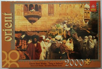 Image of the puzzle 2000, Trefl, An Indian Market Scene, by Edwin Lord Weeks, Factory Sealed