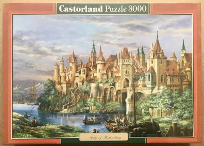 Image of the puzzle 3000, Castorland, City of Rothenburg, Factory Sealed