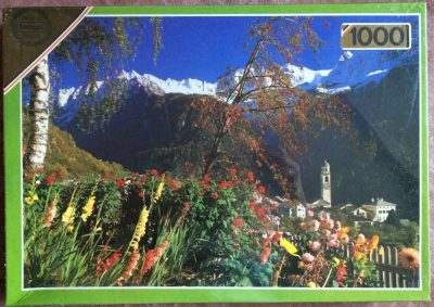 Image of the puzzle 1000, Falcon, Alpine Valley, Factory Sealed, Picture of the box