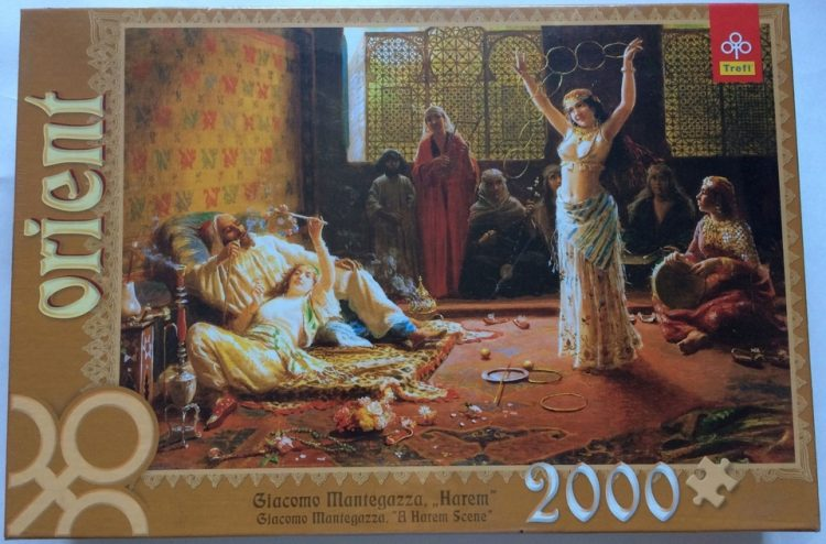 Image of the puzzle 2000, Trefl, A Harem Scene, by Giacomo Mantegazza, Factory Sealed