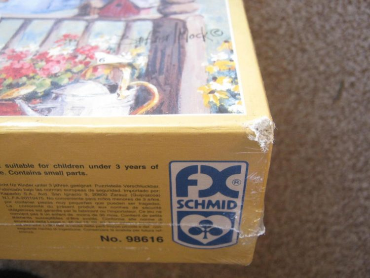 Image of the puzzle 3000, F.X. Schmid, Country Hideaway, by Barbara Mock, Factory Sealed, Picture of the corner