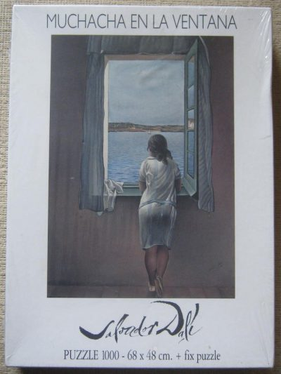 Image of the puzzle 1000, Educa, Girl at the Window, by Salvador Dalí, Factory Sealed, Picture of the box