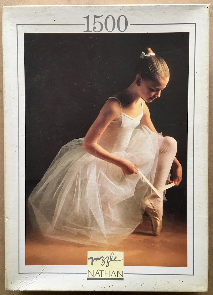 Image of the puzzle 1500, Nathan, Ballerina, Complete, Picture of the box