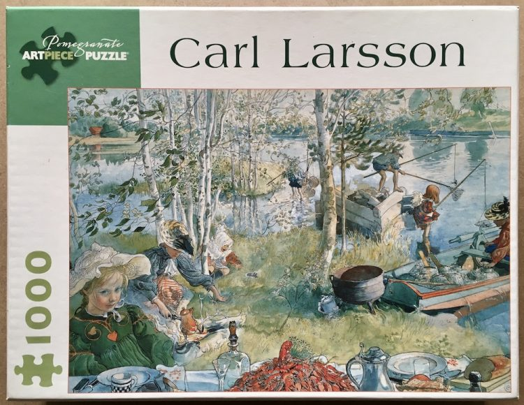 Image of the puzzle 1000, Pomegranate, Crayfishing, by Carl Larsson, Complete, Picture of the box