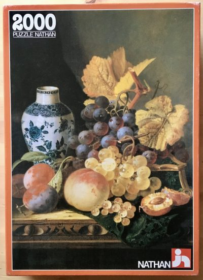 Image of the puzzle 2000, Nathan, Still Life with Fruit, by Edward Ladell, Sealed Bag, Picture of the box