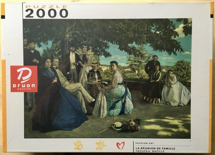 Image of the puzzle 2000, Druon, Family Reunion, by Frédéric Bazille, Factory Sealed
