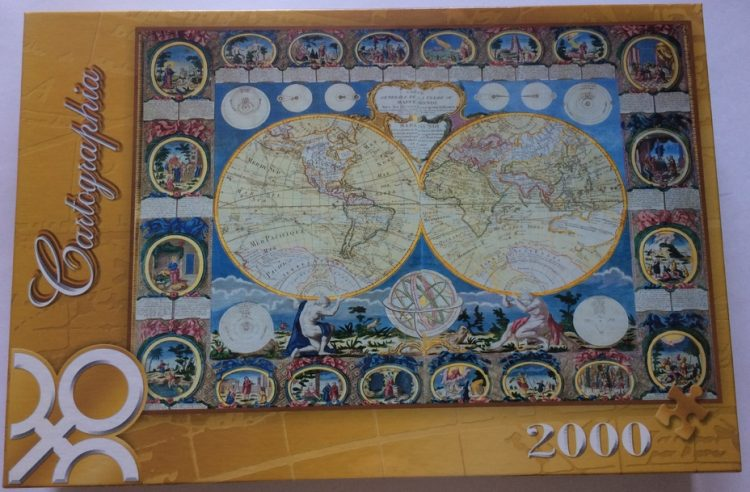 Image of the puzzle 2000, Trefl, A Map of the Earth 1788, by Abbe Clout, Factory Sealed