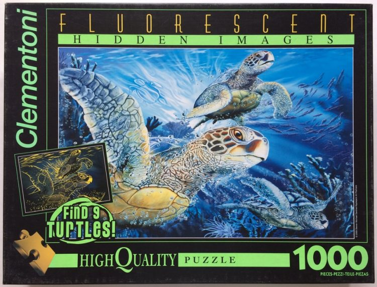 Image of the puzzle 1000, Clementoni, Sea Turtles, Sealed Bag, Picture of the box