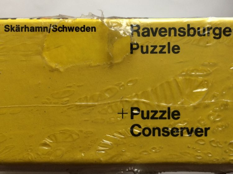 Image of the puzzle 2000, Ravensburger, Sweden, by Siegfried Bohnacker, Factory Sealed, Detail of the box
