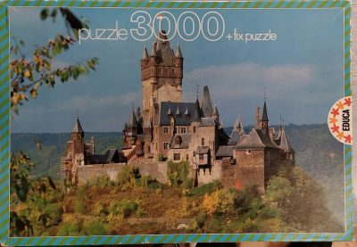 Image of the puzzle 3000, Educa, The Castle of Cochem, Germany, Sealed Bag, Picture of the box
