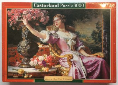 Image of the puzzle 3000, Castorland, Lady in the Purple Dress, by Władysław Czachórski, Factory Sealed, Picture of the box