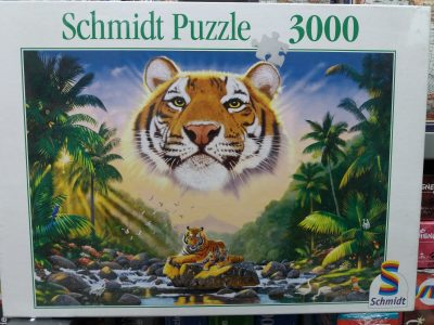 Image of the puzzle 3000, Schmidt, King of the Jungle, Factory Sealed, Picture of the box