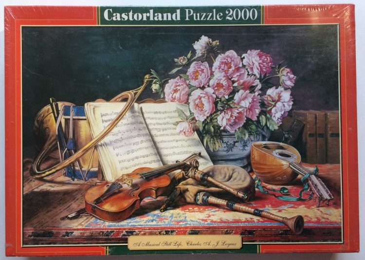 Image of the puzzle 2000, Castorland, A Musical Still Life, by Charles Loyeux, Factory Sealed, Picture of the box