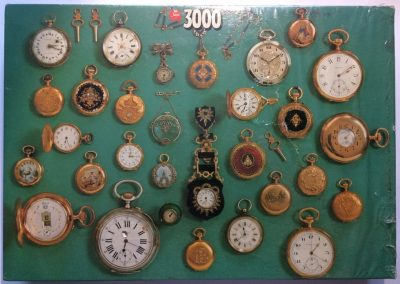 Image of the puzzle 3000, Jumbo, Antique Watches, Factory Sealed, Picture of the box