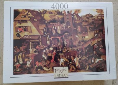 Image of the puzzle 4000, Nathan, Dutch Proverbs, by Pieter Brueghel the Younger, Factory Sealed