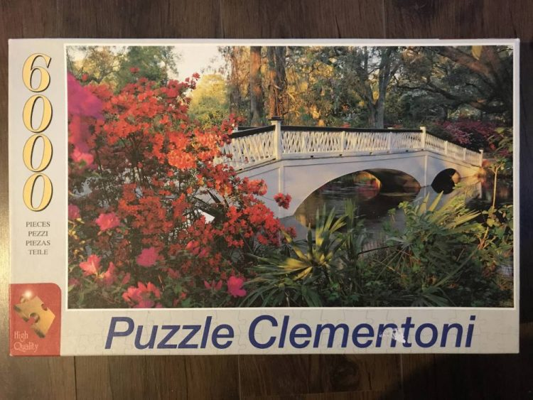 Image of the puzzle 6000, Clementoni, Magnolia Garden, Sealed Bag, Picture of the box
