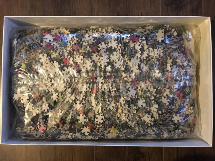 Image of the puzzle 6000, Clementoni, Magnolia Garden, Sealed Bag, Picture of the bag