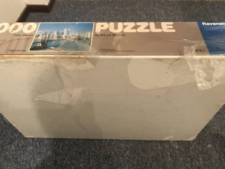 Image of the puzzle 5000, Ravensburger, New York City, Factory Sealed, Detail of the Box
