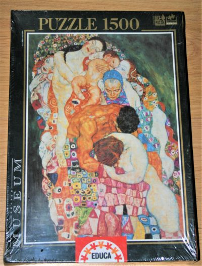 Image of the puzzle 1500, Educa, Death and Life, by Gustav Klimt, Factory Sealed