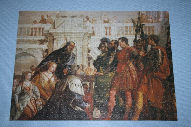 Image of the puzzle 500, Whitmore, The Family of Darius before Alexander, by Paolo Veronese, Complete, Picture of the puzzle