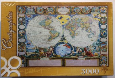 Image of the puzzle 3000, Trefl, A Map of the Earth 1749, by Jean-Baptiste Nolin, Factory Sealed, Picture of the box