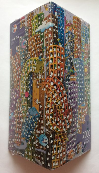 Image of the puzzle 2000, Heye, Mordillo City, by Guillermo Mordillo, Factory Sealed