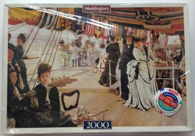 Image of the puzzle 2000, Waddingtons, The Ball on Shipboard, by James Tissot, Factory Sealed, Picture of the box