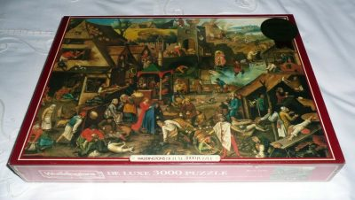 Image of the puzzle 3000, Waddingtons, Dutch Proverbs, by Pieter Brueghel the Younger, Factory Sealed