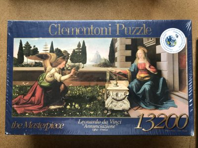 Image of the puzzle 13200, Clementoni, The Annunciation, by Leonardo da Vinci