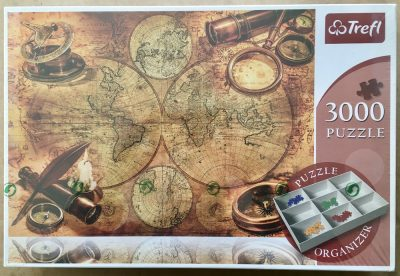 Image of the puzzle 3000, Trefl, World Map, Factory Sealed